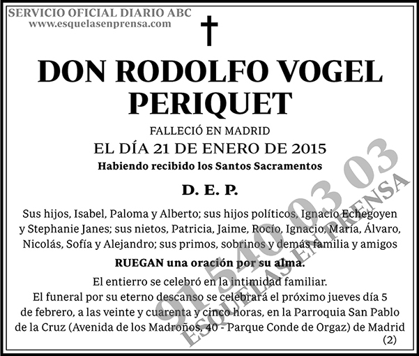 Rodolfo Vogel Periquet